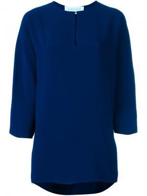 Свободная блузка Gianluca Capannolo. Цвет: синий