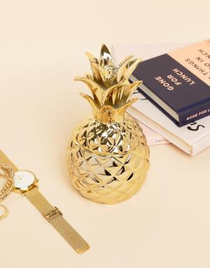 Sass & Belle Золотистая подставка под украшения в виде ананаса. Цвет: мульти