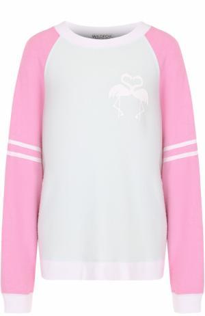 Пуловер свободного кроя с круглым вырезом Wildfox. Цвет: зеленый