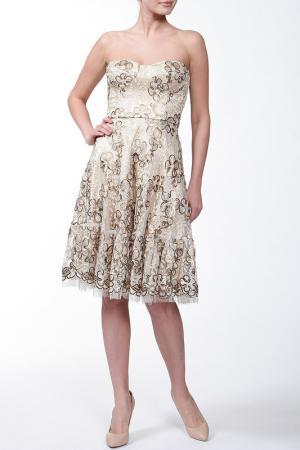 Платье Issa London. Цвет: золотой, кружево