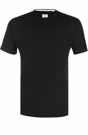 Хлопковая футболка с круглым вырезом Rag&Bone. Цвет: черный