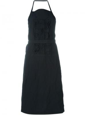 Удлиненное платье-фартук Comme Des Garçons Vintage. Цвет: чёрный