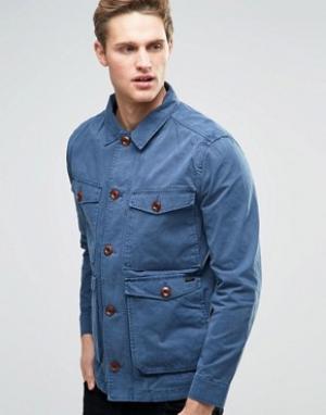 Parka London Куртка Kennett. Цвет: синий