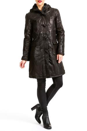 Пальто Isaco & Kawa. Цвет: черный