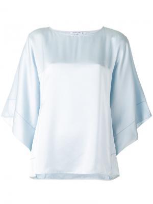 Блузка с укороченными рукавами Helmut Lang. Цвет: синий