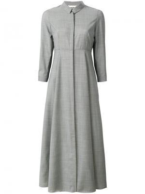 Приталенное расклешенное платье Xacus. Цвет: чёрный