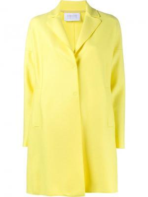 Однобортное пальто Harris Wharf London. Цвет: жёлтый и оранжевый