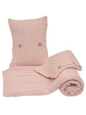 Комплект: плед с  двумя наволочками ARTILIVI. Цвет: розовый