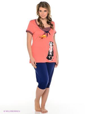 Пижама PELICAN. Цвет: черный, коралловый