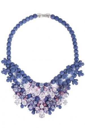 Колье из силикона и кристаллов (Внимание: не хватает несколько страз) Ek Thongprasert. Цвет: лавандовый, розовый, перламутровый