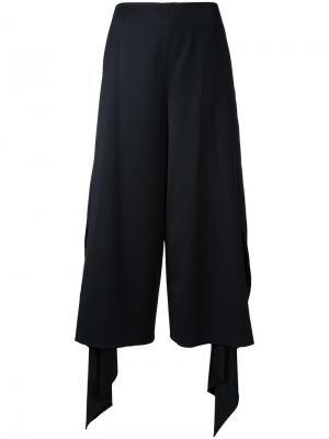Укороченные широкие брюки Goen.J. Цвет: чёрный