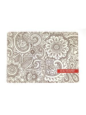 Обложка для паспорта 1Azaliya. Цвет: сиреневый, белый