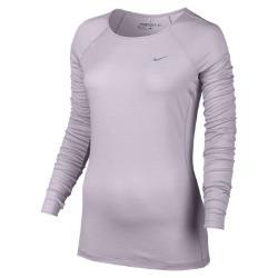 Женская футболка для гольфа с длинным рукавом и молнией 1/2  Merino Crew Nike. Цвет: пурпурный