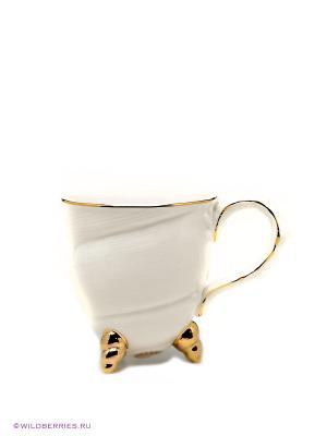 Кружка Pavone. Цвет: белый (осн.), золотистый