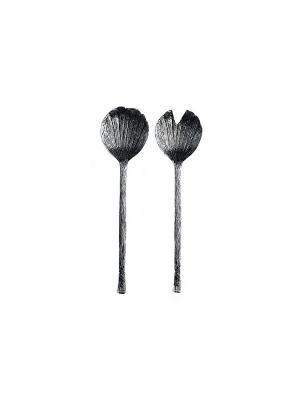 Набор ложек для салата,2 предмета Elff Ceramics. Цвет: серебристый