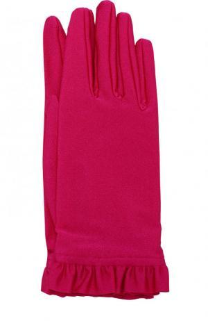 Перчатки с оборками Balenciaga. Цвет: фуксия