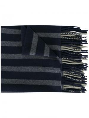 Полосатый трикотажный шарф Odeeh. Цвет: синий