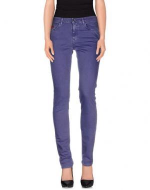 Джинсовые брюки UNLIMITED. Цвет: фиолетовый