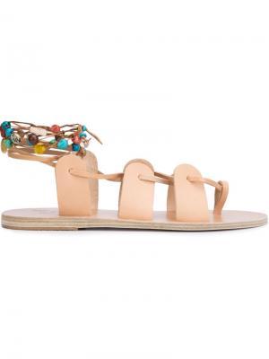Сандалии Amaryllis stones Ancient Greek Sandals. Цвет: телесный