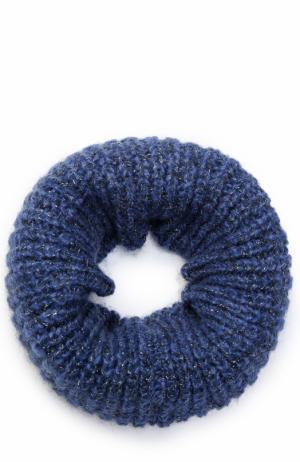 Шарф-снуд фактурной вязки Deha. Цвет: синий