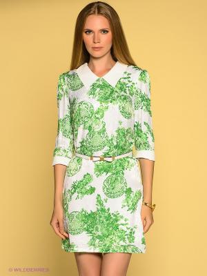 Платье TOPSANDTOPS. Цвет: зеленый