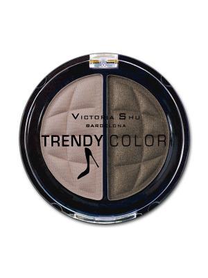 Тени для век TRENDY COLOR, тон 435 Victoria Shu. Цвет: коричневый