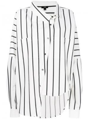 Асимметричная рубашка на пуговицах Ji Oh. Цвет: белый