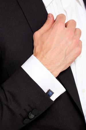Квадратные запонки с лазуритом Canali. Цвет: голубой