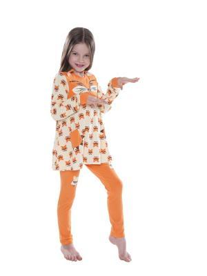 Пижама Juno. Цвет: оранжевый