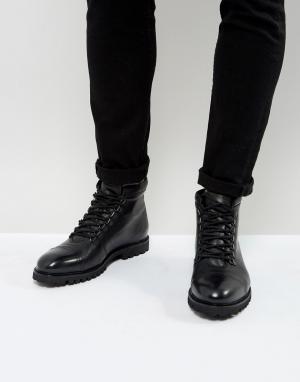 Zign Походные кожаные ботинки. Цвет: черный