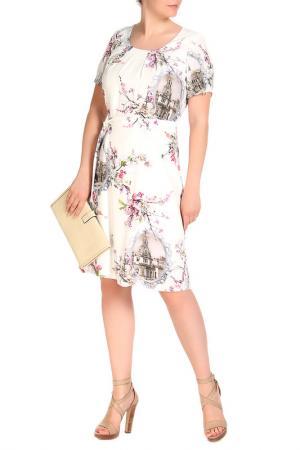 Платье LOLA PALTINGER. Цвет: белый