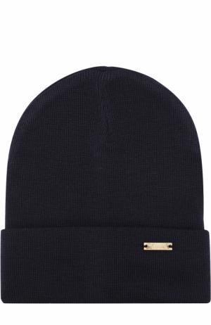 Шерстяная шапка Il Trenino. Цвет: темно-синий