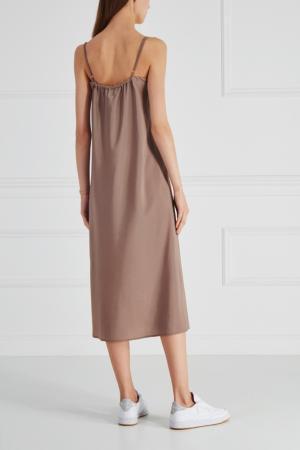 Платье-комбинация Cyrille Gassiline. Цвет: бежевый