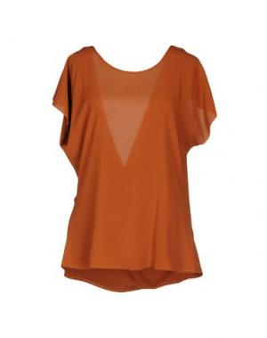Блузка H2O ITALIA. Цвет: коричневый