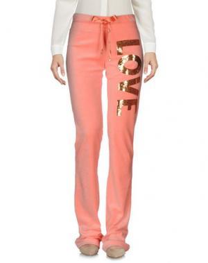 Повседневные брюки NAUGHTY DOG. Цвет: лососево-розовый