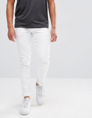 ASOS Белые джинсы скинни. Цвет: белый