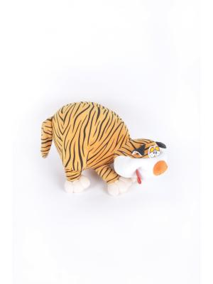Мягкая игрушка Зефир Кот 9.28.1 цвет белый-черный Malvina. Цвет: белый, черный