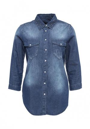 Рубашка джинсовая Sisley. Цвет: синий