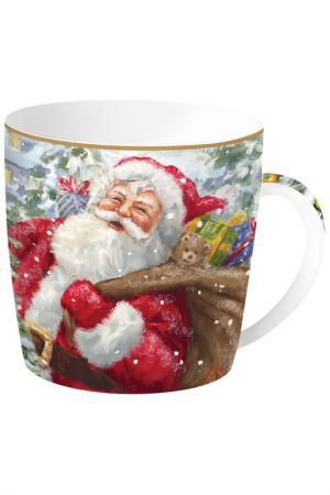 Кружка Дед Мороз с подарками Easy Life. Цвет: красный, белый