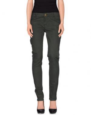Повседневные брюки E_GO' SONIA DE NISCO. Цвет: темно-зеленый