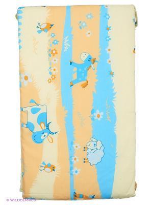 Бортик для кроватки Baby Nice. Цвет: голубой, желтый