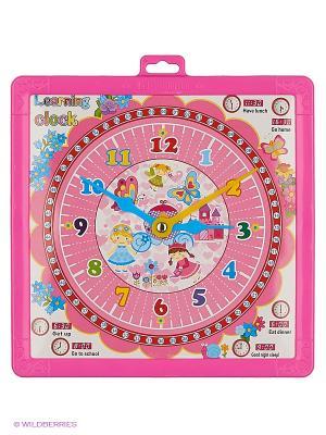 Доска для рисования двухсторонняя Часы Amico. Цвет: розовый