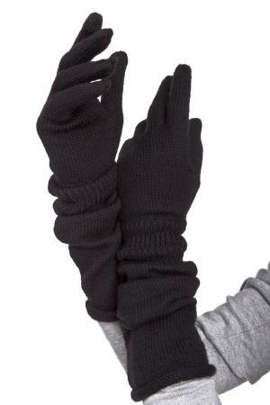 Перчатки Seeberger. Цвет: чёрный