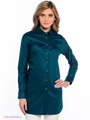 Рубашка Levall. Цвет: темно-зеленый