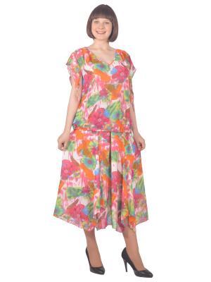 Блузка Томилочка Мода ТМ. Цвет: светло-зеленый, бежевый, розовый