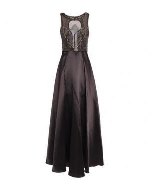 Длинное платье BADGLEY MISCHKA. Цвет: темно-коричневый
