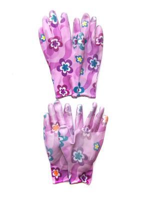 Садовые перчатки, 2 пары DiMi. Цвет: фиолетовый