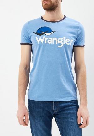Футболка Wrangler. Цвет: голубой