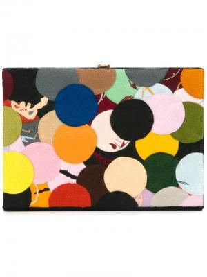 Клатч-книга с узором Olympia Le-Tan. Цвет: многоцветный