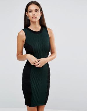 Lipsy Трикотажное платье в стиле колор блок. Цвет: мульти